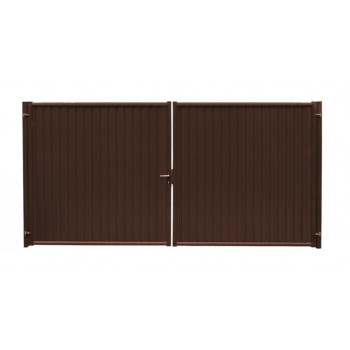 Ворота Grand Line Премиум коричневый (RAL 8017)