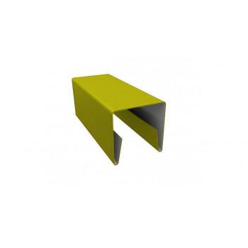 П-образная планка желтая