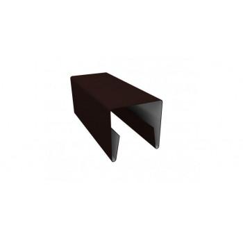 П-образная планка коричневая