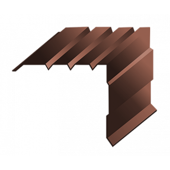 Торцевая планка морская волна (RAL 8017)