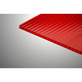 Поликарбонат сотовый красный