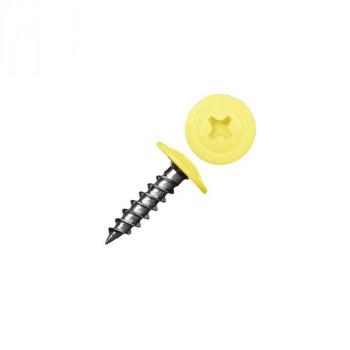 Саморез с прессшайбой острый желтый (RAL 1018)