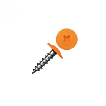 Саморез с прессшайбой острый оранжевый (RAL 2004)