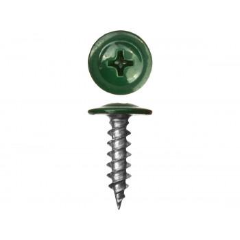 Саморез с прессшайбой острый зеленый мох (RAL 6005)