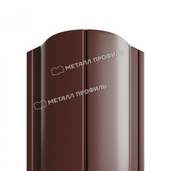 Штакетник металлический круглый коричневый (RAL 8017)