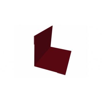 Планка внутреннего угла красное вино (RAL 3005)