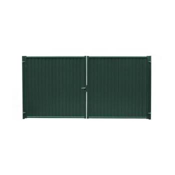 Ворота Grand Line Премиум зеленый (RAL 6005)