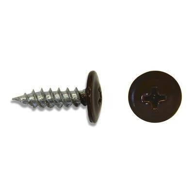 Саморез с прессшайбой острый коричневый (RAL 8017)